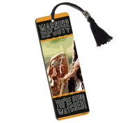 Chameleon Book Guard On Duty Printed Bookmark with Tassel