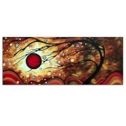 Abstract Tree Art 'Flaming Desire' - 120cm x 48cm . Metal Giclée - Modern Wall Decor Metal Giclee, Contemporary Sunset Landscape, Autumn Trees Artwork by Megan Duncanson