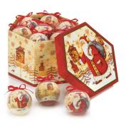 Birdhouse Santa Ornament Box Set