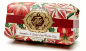 Amaryllis and Holly, Luxury Large Oversized, Beautifully Scented Shea Butter Soap Bar, Made in England, Triple Milled. Environmentally Friendly (Green). 240ml