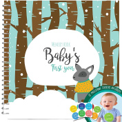 Baby's First Year Memory Book With 12 Milestone Stickers, Boys Winter Edition