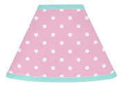 Sweet Jojo Designs Pink Polka Dot and Turquoise Skylar Baby, Childrens Lamp Shade