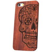 iPhone 6 Plus Case, Nurbo Natural Carved Wood Wooden Hard Case for iPhone 6s Plus 14cm