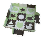 Foam Play Mat for Tummy Time, Crawling & Play. Non-Toxic, Extra Thick Tiles