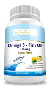 enrich naturals 1250mg Omega 3 Fish Oil, Lemon Flavour, 120 Capsules