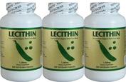 3 Bottles Lecithin (200 Softgels/ 1200 mg/ bottle) by NCB