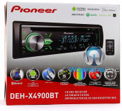 Pioneer DEH-X4900BT Vehicle CD Digital Music Player Receivers, Black
