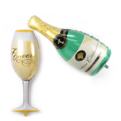 Fecedy® Aluminium film Champagne Bottle and Goblet Hydrogen Balloons For Party Decoration