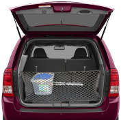 Trunk Storage Net By Lebogner - Car Trunk Organiser, Mesh Net Hammock Cargo Storage Vehicle Organiser with 3 Mounting Options, Premium Quality Universal Fit Car Organiser