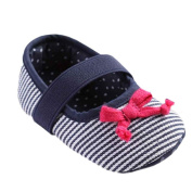 For 0-12Months Girls ,Clode® Baby Bowknot Stripe Toddler Princess First Walkers Girls Kid Shoes