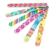 10 PCS Colourful Floral Print Nail Files Double Sided Durable Nail Art Manicure Pedicure Emery Board Manicure Sticks Random Colour