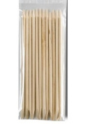 Orange Wood Sticks for Nail Cuticles, 12 Pieces