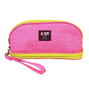 BUBM Portable Women Makeup Bag/ Travel Cosmetic Carry Pouch Toiletry Kit Organiser with Handle