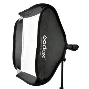 Godox 40 x 40cm Softbox Diffuser with S-type Bracket Bowens Holder for Speedlite Flash Light
