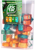 TIC TAC Spender Box with 60 Mini Boxes (Each 3.9 Grammes) Liliput, Flavours : Orange, Mint, Peach, Peppermint. by Ferrero