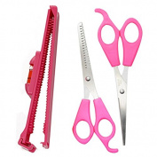 3 PCS Hair Thinning Scissors Straight Cutting Scissor Bangs Balance Ruler Hair Grooming Styling Tool Set