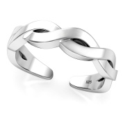 Sterling Silver Celtic Knot Adjustable Toe Band Ring