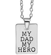 My Dad My Hero Pendant Necklace