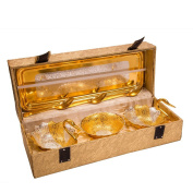 Marusthali Designer Silver Gold Plated Swan Shaped Bowl Set For Make Dining, Serve Best To your Guest, Hotel etc.