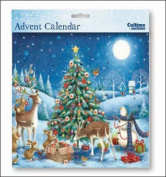 Square Advent Calendar (WDM9658) Caltime - Around The Tree - Glitter Varnished