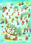 Richard Sellmer Traditional Advent Calendar 70114 Children Playing in the Snow