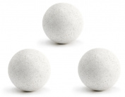 3 Balles Baby Foot Liege Blanches