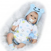NPK Collection Reborn Baby Doll Soft Silicone 22inch 55cm Newborn Baby Doll lifelike Vinyl Dolls Blue Star Sakura doll