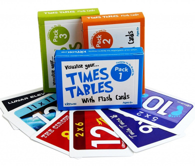 Times Tables Flash Cards Full Set (Triple Pack) by Kippson