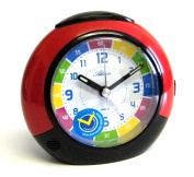 Atlanta Kids Alarm Clock Learn the time Analogue Red 1678-1