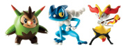 Tomy T18840 Quilladin/Braixen and Frogadier Figures