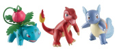 Tomy T18839A Charmeleon/Wartortle and Ivysaur Figures