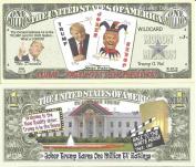 Novelty Dollar Donald Trump Joker Wild Card Race to the White House Million Dollar Bills x 4