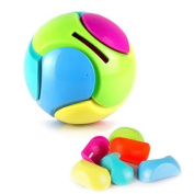 Youvinson DIY Assemble Ball Shape Piggy Bank Toy ABS Ball-saver Educational Toy Kid Gift