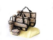 5pcs POLKA DOT Baby Nappy Changing Bags Set Nappy Hospital Bag