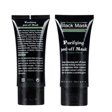 ROMANTIC BEAR Blackhead Remover Deep Clean Purifying Skin Peel Comedo Black Mud Acne Face Mask