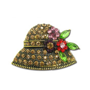 Romanic Hat Brooches For Women For Ladies Mini Diamond Set Perfect Gift