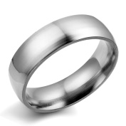 Flongo Simple Silver Plain Stainless Steel Couples Mens Womens Engagement Wedding Band Ring