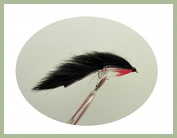 6 Pack of Black Zonker Trout Flies Choice of Sizes Available