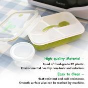 Soledi Lunch Box Bento Box (4 in 1) Silicone Leakproof Healthy Food Grade Plastic Containers Crisper