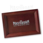 MasterGear Premium Wooden Rolling Tray MARK-II [Compact] - Light Brown [18 x 12,5 cm]