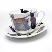 Roy Kirkham Cats Galore Single Breakfast Cup and Saucer
