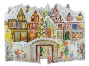3D Traditional Festive Christmas Street Houses Card Advent Calendar With Envelope