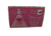 Childs pink christmas felt purse by gisela graham - fairy