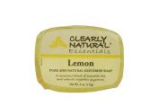 CLEARLY NATURAL BAR SOAP,GLYCERINE,LEMON, 120ml