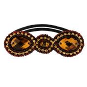 Tassel Park Ave Hair Tie, Brown