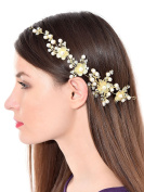 Foldable Floral Funky Fashionable Stone Hair Clip With Pins