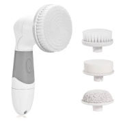New! Face & Body Skin Cleansing Brush. Best Deep Cleansing | Exfoliating Microdermabrasion | Pore Minimizer | Blackhead Remover | Acne Scars & Dark Spots Corrector - Perfect At Home Spa Treatment Kit