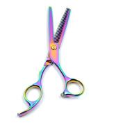 Naturebelle 18cm Professional Multicolor Barber Teeth Edge Thinning Hair Cutting Scissors Hair Trimming Shears