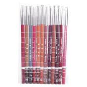 Lipliner ,Vovotrade 12pcs Women's Professional Makeup Lipliner Waterproof Lip Liner Pencil Set
