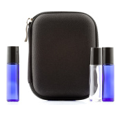 Essential Oil Carrying Case - Black - Fits TEN 10ml Roller Bottles - (Can hold 10ml, 10ml Rollers, & 5ml) Travel Bag Organiser works with Young Living, doTERRA, Plant Therapy and more